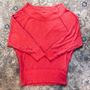nwot free people off-the-shoulder sweater